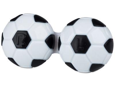 Piilolinssikotelo Jalkapallo- musta