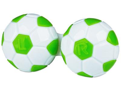 Piilolinssikotelo Jalkapallo - Vihreä