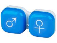 alensa.fi - Piilolinssit - Piilolinssikotelo man&woman - sininen