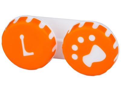 Piilolinssikotelo Tassu Oranssi