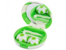 Piilolinssikotelo Football peilillä - vihreä