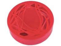 Piilolinssikotelo peilillä - punainen kuvio