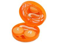 alensa.fi - Piilolinssit - Piilolinssikotelo peilillä - oranssi kuvio
