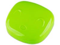Piilolinssikotelo Face peilillä - vihreä