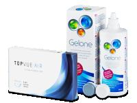 TopVue Air (6 kpl) + Gelone-piilolinssineste 360 ml