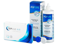 TopVue Air (6 kpl) + AQ Pure  -piilolinssineste 360 ml