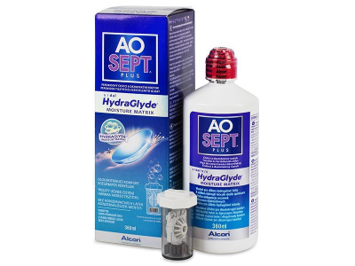 AO SEPT PLUS HydraGlyde -piilolinssineste 360 ml