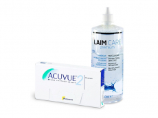 Acuvue 2 (6 kpl) + Laim-Care-piilolinssineste 400 ml