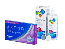 Air Optix plus HydraGlyde Multifocal (6 kpl) + Gelone-piilolinssineste 360 ml