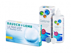 Bausch + Lomb ULTRA for Presbyopia (6 kpl) + Gelone-piilolinssineste 360 ml