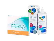 PureVision 2 for Astigmatism (3 kpl) + Gelone-piilolinssineste 360 ml