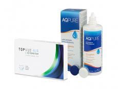 TopVue Air for Astigmatism (3 kpl) + AQ Pure -piilolinssineste 360 ml