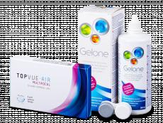 TopVue Air Multifocal (3 kpl) + Gelone -piilolinssineste 360 ml