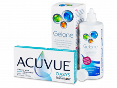 Acuvue Oasys with Transitions (6 linssiä) + Gelone linssineste 360 ml