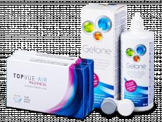 TopVue Air Multifocal (6 kpl) + Gelone-piilolinssineste 360 ml