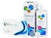 TopVue Monthly PLUS (6 kpl) + Gelone -piilolinssineste 360 ml