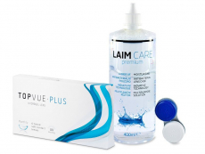 TopVue Monthly PLUS (6 kpl) + LAIM-CARE -piilolinssineste 400 ml
