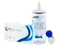 TopVue Monthly PLUS (6 kpl) + LAIM-CARE-piilolinssineste400ml