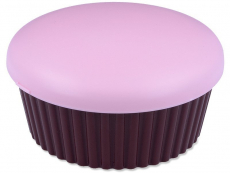 Piilolinssikotelo peilillä Muffinssi - pinkki