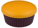 alensa.fi - Piilolinssit - Piilolinssikotelo peilillä Muffinssi - oranssi