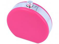 Piilolinssikotelo peilillä Flask - pinkki