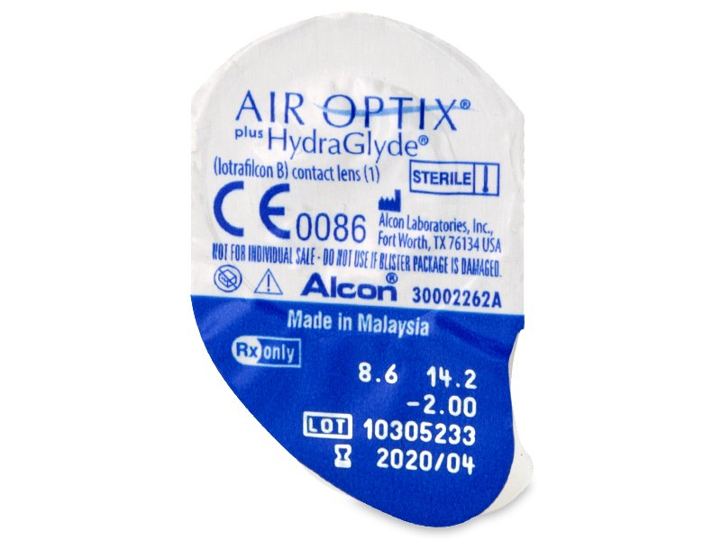 Air Optix plus HydraGlyde (6 kpl)