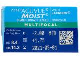 1 Day Acuvue Moist Multifocal (30 kpl)