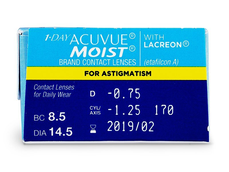 1 Day Acuvue Moist for Astigmatism (30 kpl)
