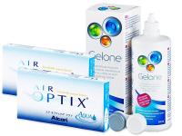 Air Optix Aqua (2x3kpl) +Gelone 360ml